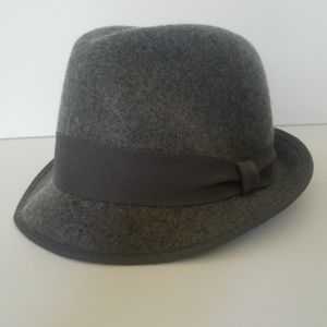 M/L  Wool J Crew Hat Grey Fedora New without Tags
